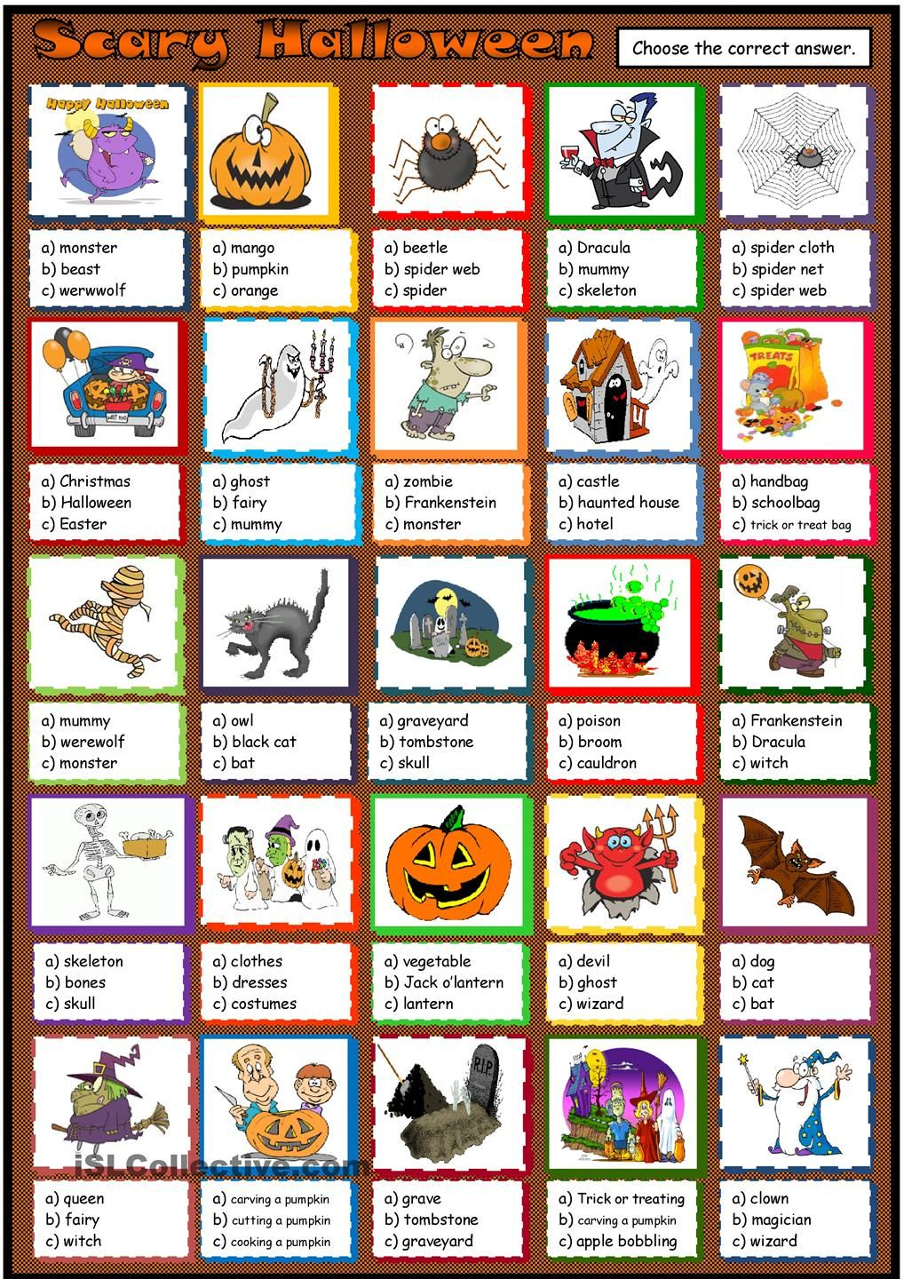 Scary Halloween With Images Halloween Activities