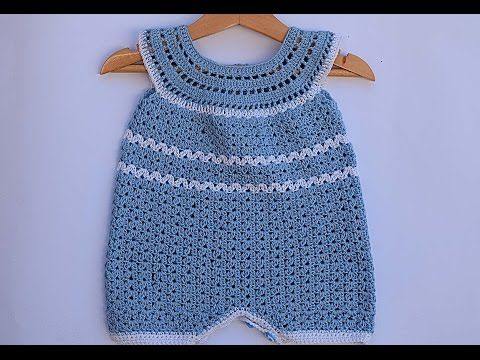 Pelele Enterizo O Jardinero A Crochet 1ª Parte Tutorial Diy Segunda Parte Suscribete Crochet Baby Clothes Crochet Baby Dress Crochet Baby Patterns