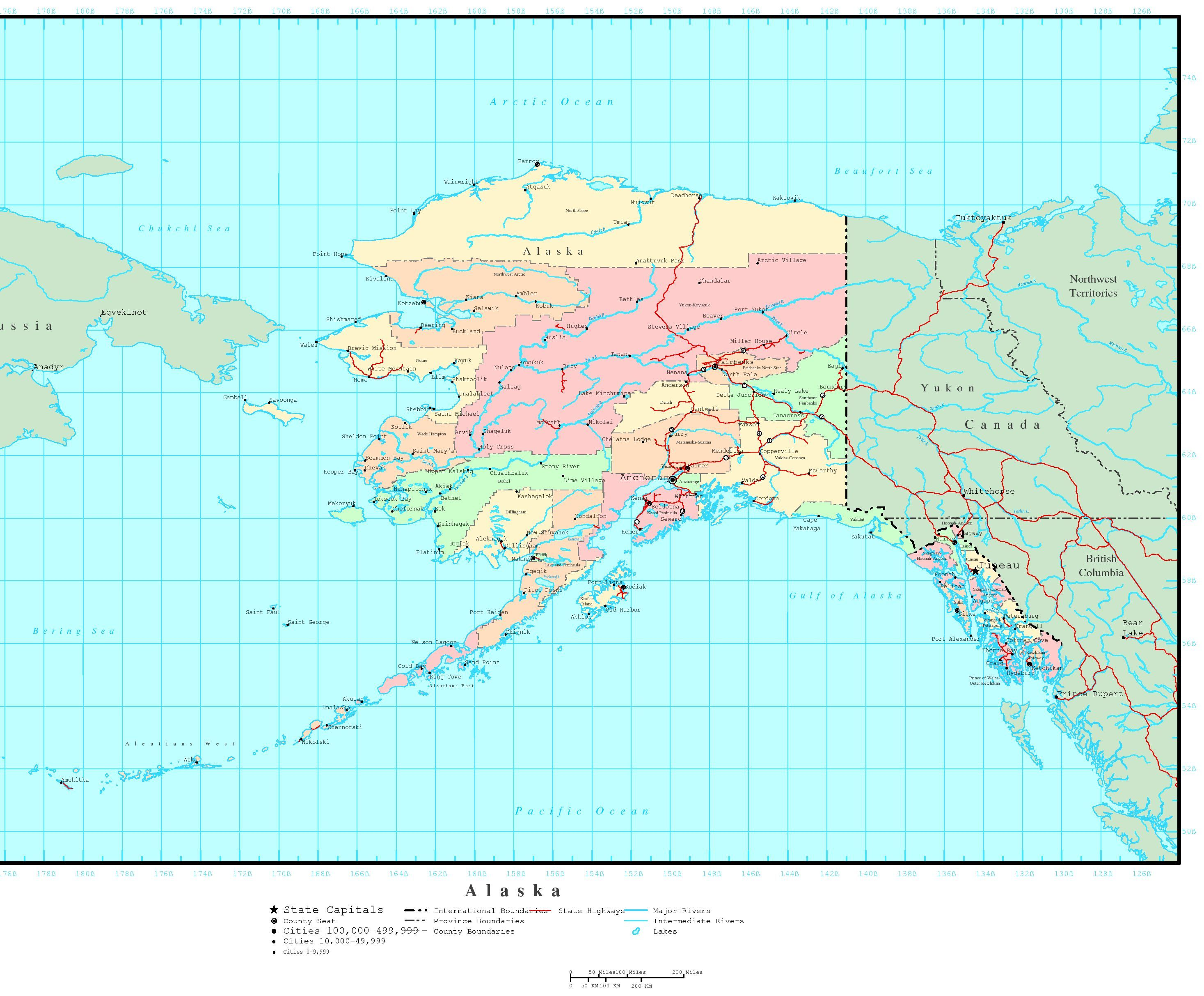 Where Is Alaska On The Map Bing Images Click On This Site There - Downloadable us map