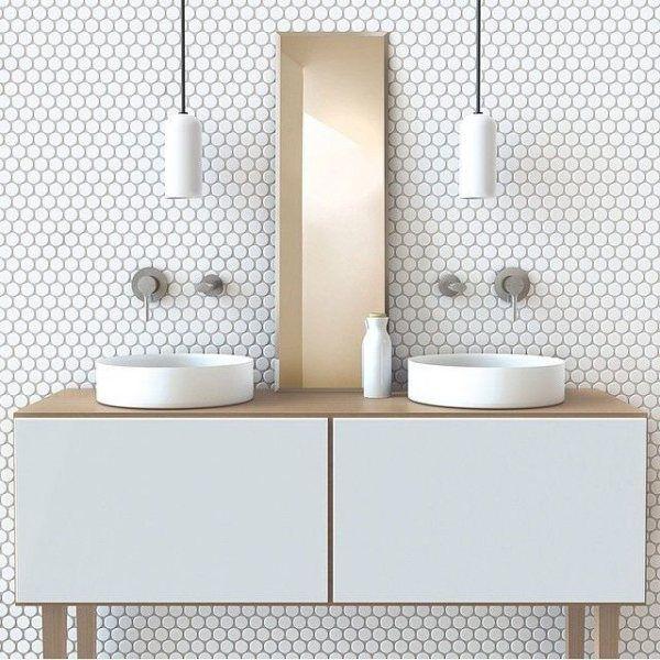 Wohndesign Skandinavien: Design Trends: Solid Color Tile Mosaics In 2019