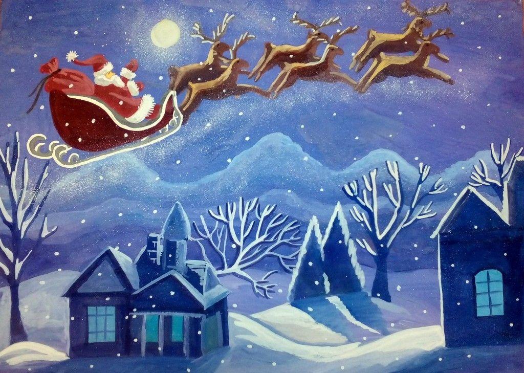 Рождественские рисунки картинки, марта