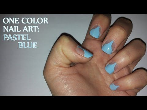 One Color Nail Art Pastel Blue Http47beautynailsindex