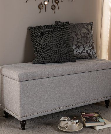 Loving this Beige Kaylee Storage Ottoman Bench on #zulily ...
