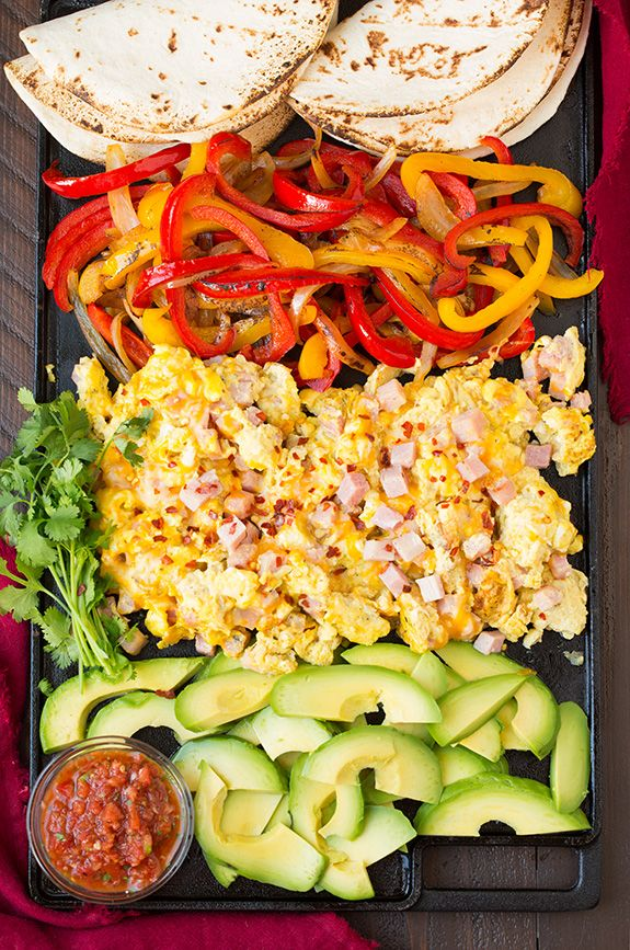 Attractive Breakfast Fajitas! These Are Fun To Assemble And They Look So Fresh And  Light, A Great Start To The Day :) Remember To Follow SimpleGreenMoms For  More ... Nice Look