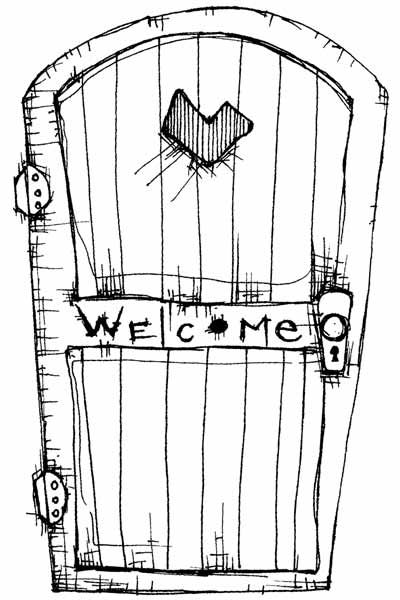 Welcome Door $14 {STAMPOTIQUE.COM} (shipping 6-9; free over 100)