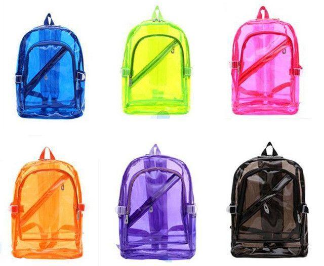 NEW Waterproof Backpack Transparent Clear Plastic for Teenage Girls PVC  School Bags Shoulders Bag space backpack notebook cb71d791bee05