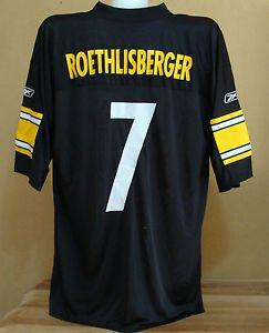 309ec72e1 ... Ben Roethlisberger 7 Pittsburgh Steelers NFL Football Jersey XL Reebok  Shirt eBay ...