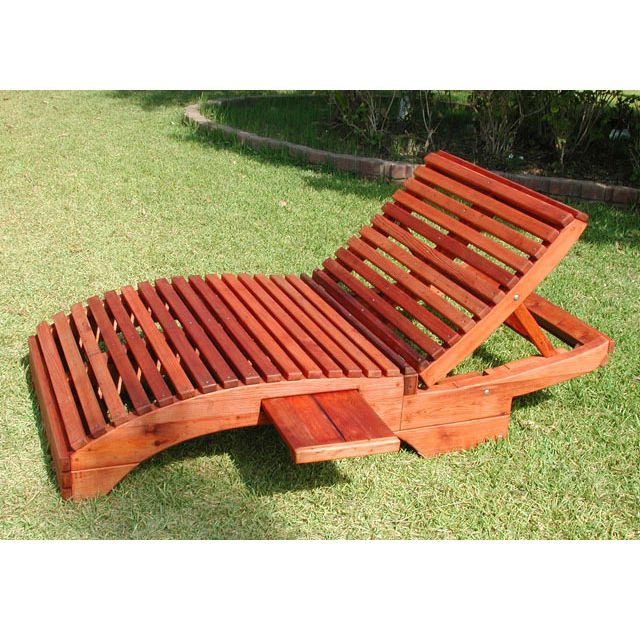 Redwood Outdoor Pennys Honeymoon Lounger Wooden Loungers, Lounge - sillas de playa