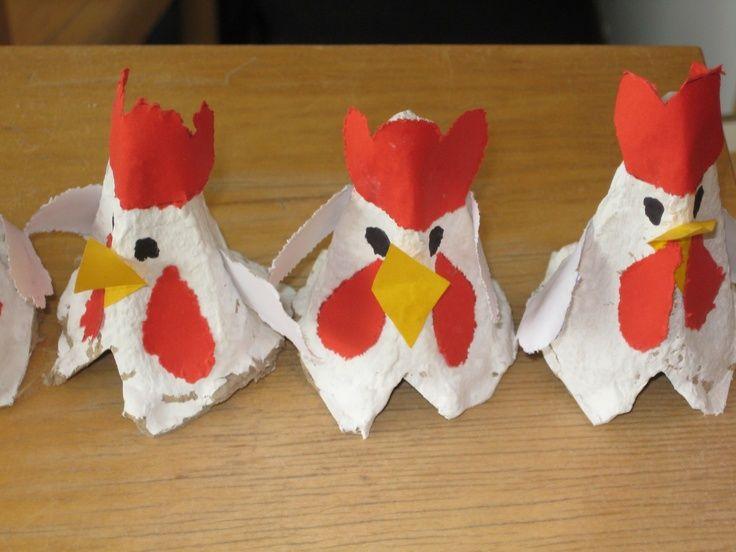 Chicken preschool theme haan ece birds eggs for Rooster craft for kindergarten