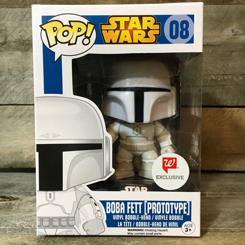 New Star Wars Boba Fett Prototype Pop Vinyl Bobble-Head Figure #08 Official