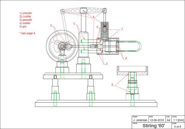 Free Download Gamma Stirling Engine Plans With Images