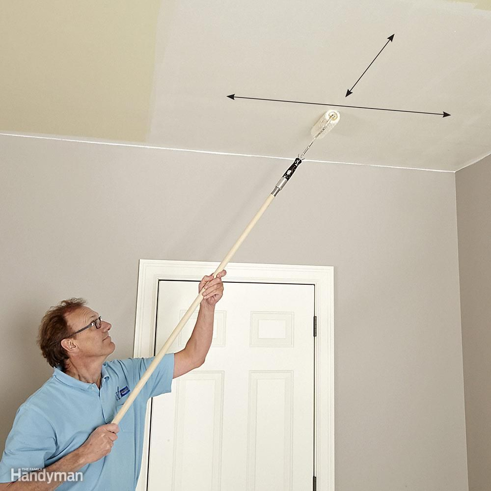How to paint a ceiling drywall ceilings and window - Como pintar techos ...