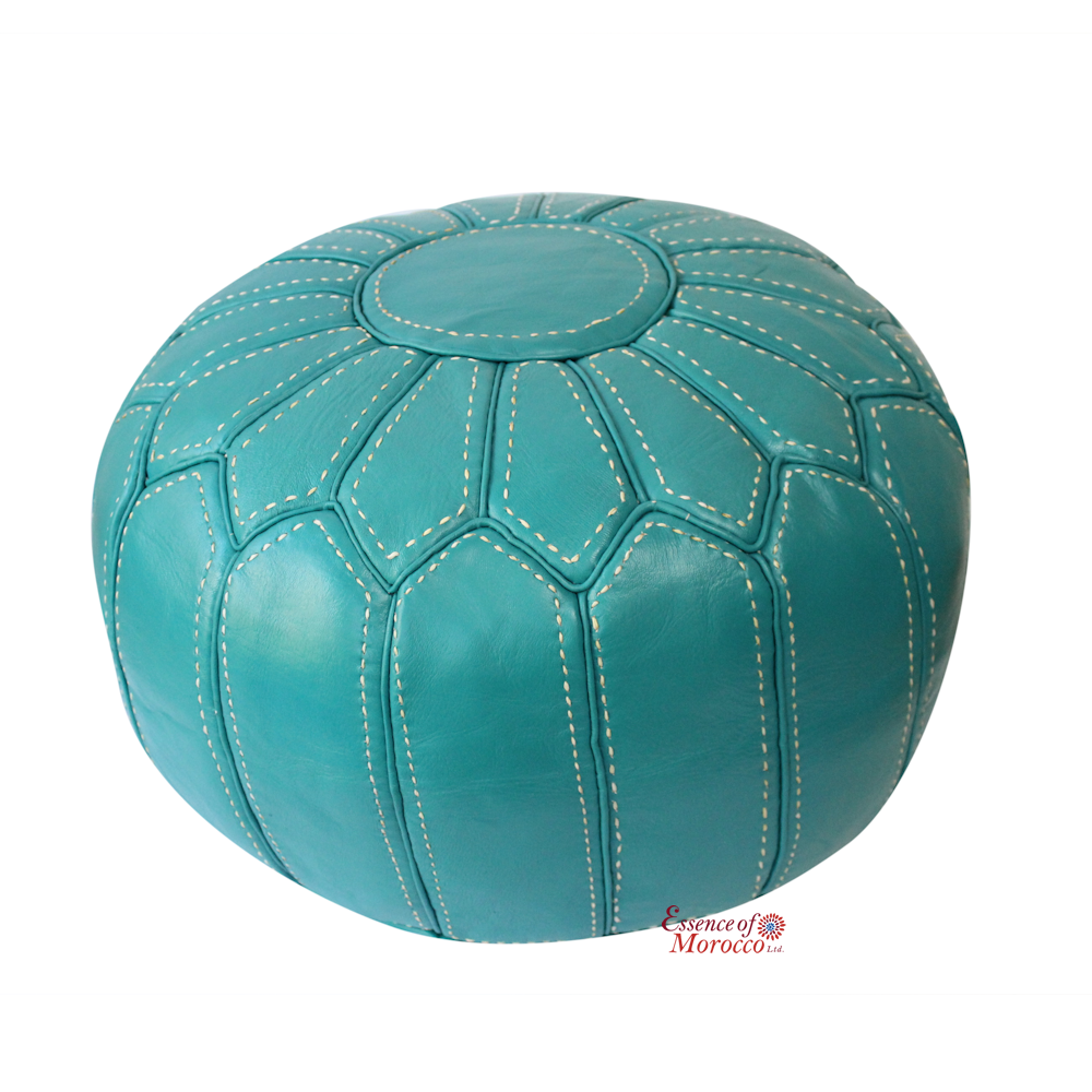 Awesome Moroccan Pouf Ottoman Stuffed In The Uk Genuine Turquoise Short Links Chair Design For Home Short Linksinfo