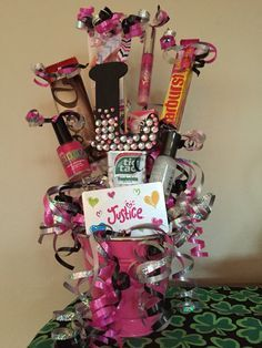 10 year old bday gift basket diy pinterest 10 years gift 10 year old bday gift basket negle Gallery
