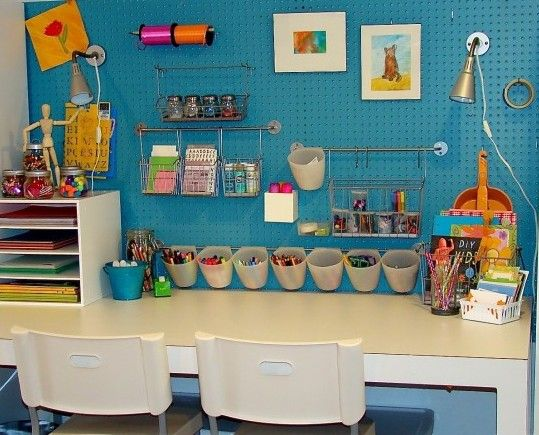 eclectic crafts room. Great Art/craft Area Eclectic Kids By The Vintage Glitter House Crafts Room
