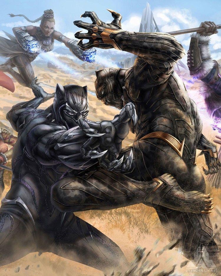 MCU Black Panther vs Killmonger | Marvel | Pinterest ... - photo#25