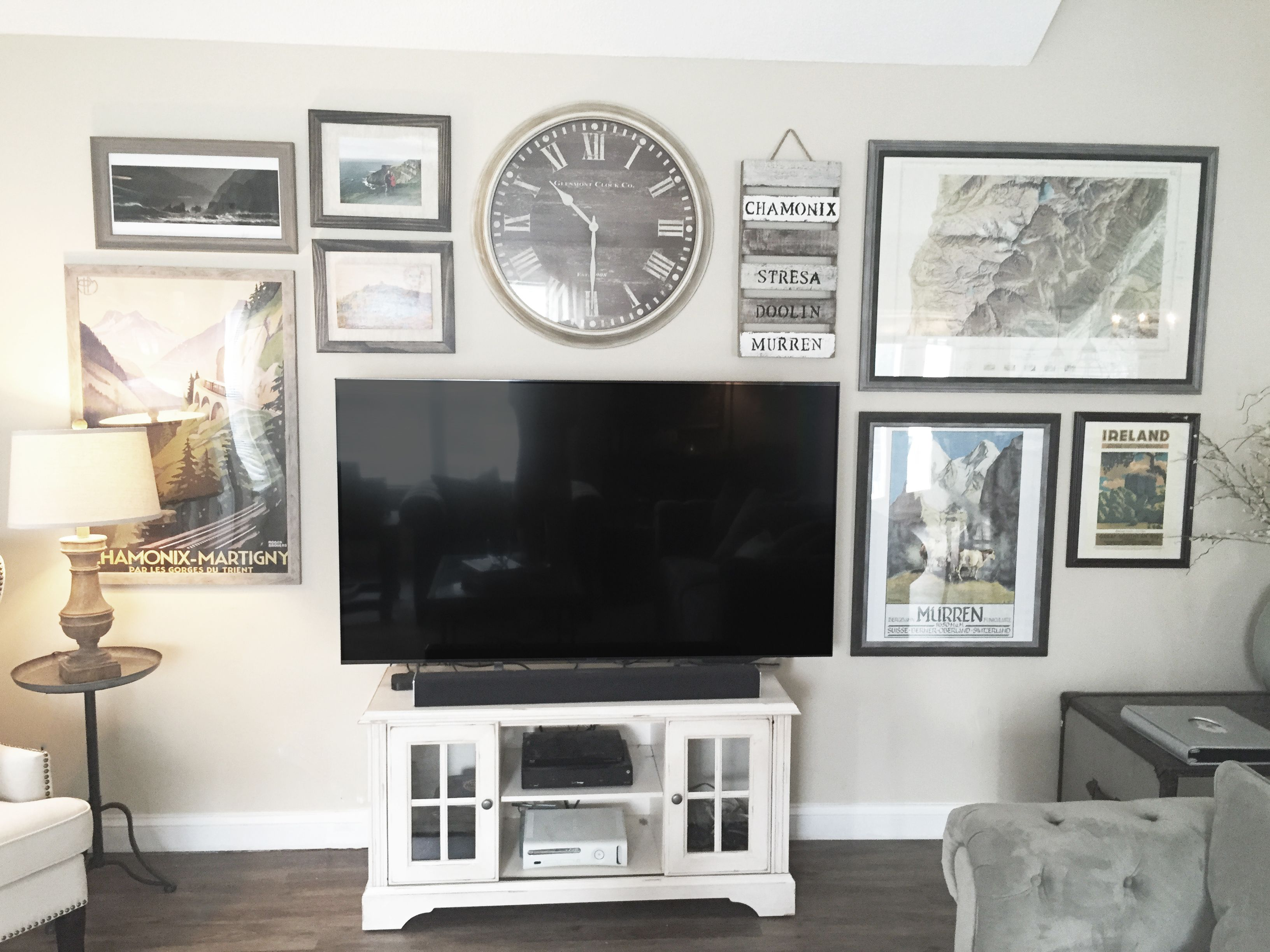 8 Creative Ways To Decorate Around Your Tv Tuft Trim Wall Decor Living Room Decor Around Tv Tv Wall Decor