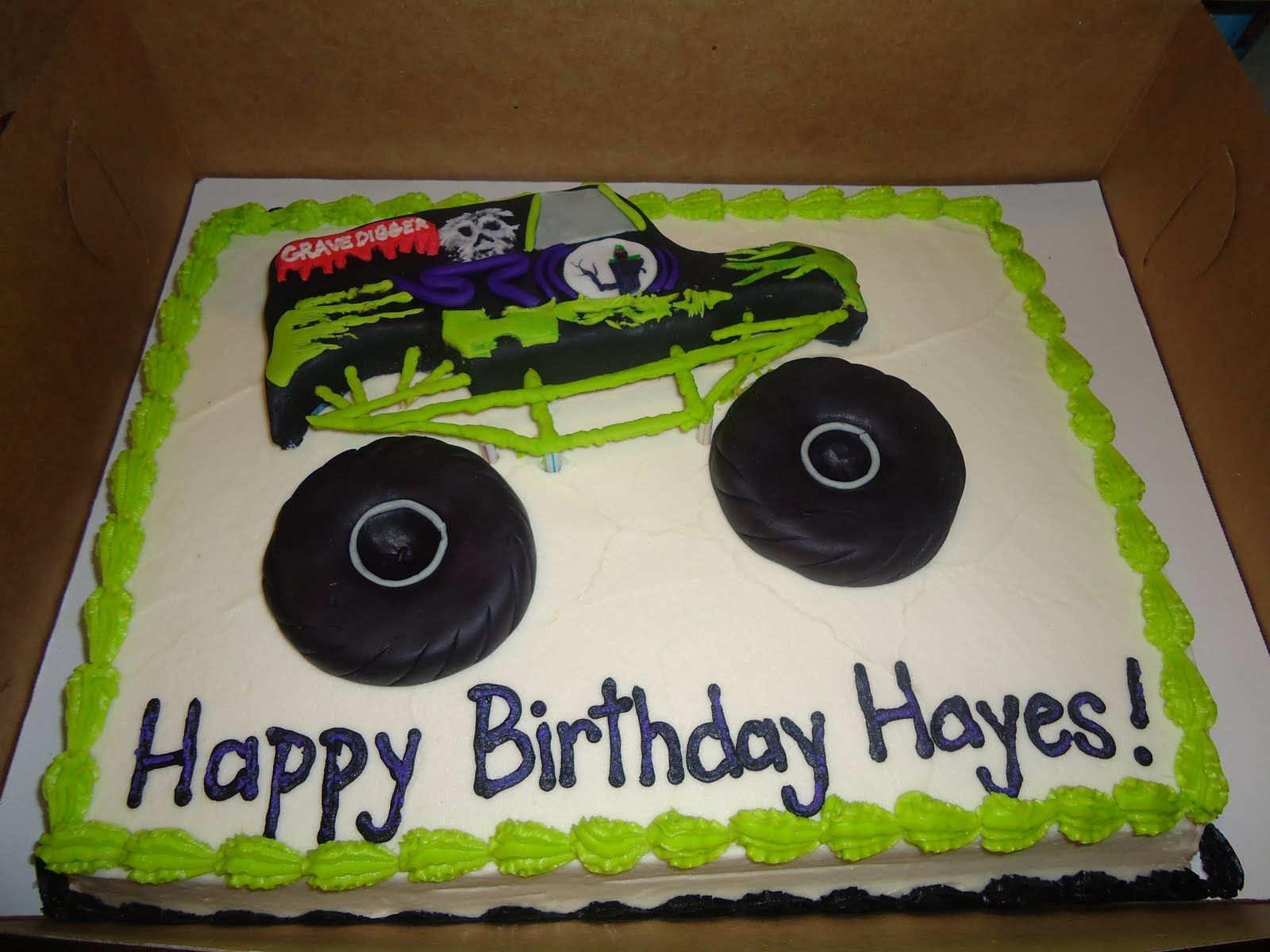 Monster Truck Birthday Cakes Hayes Birthday Cake The