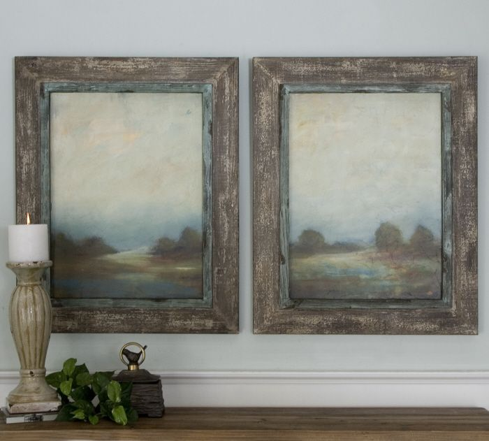 Uttermost morning vistas set of 2 framed canvas overstock shopping big discounts on uttermost canvas
