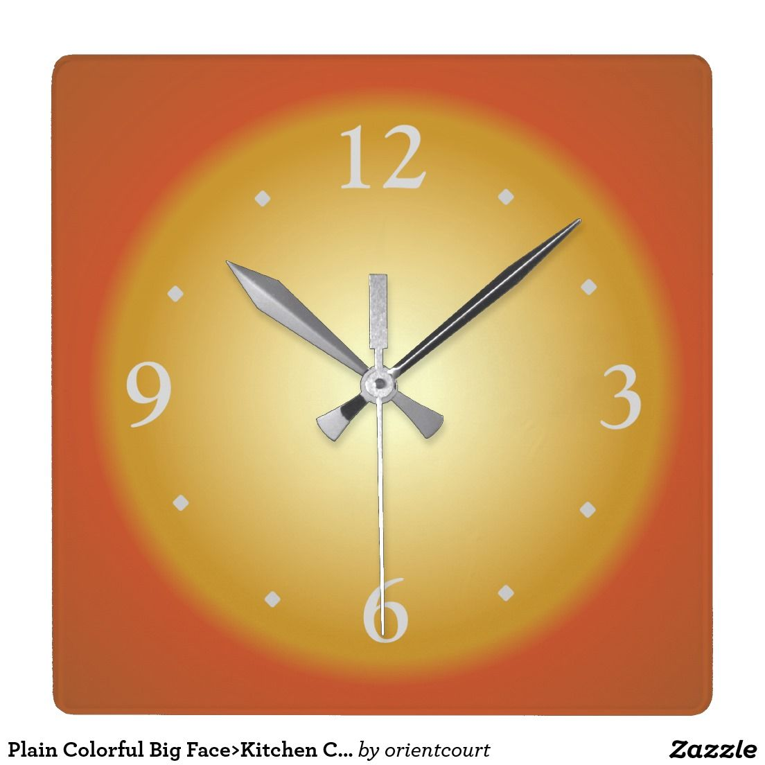 Plain Colorful Big Face>Kitchen Clock | Plain Colorful Kitchen ...