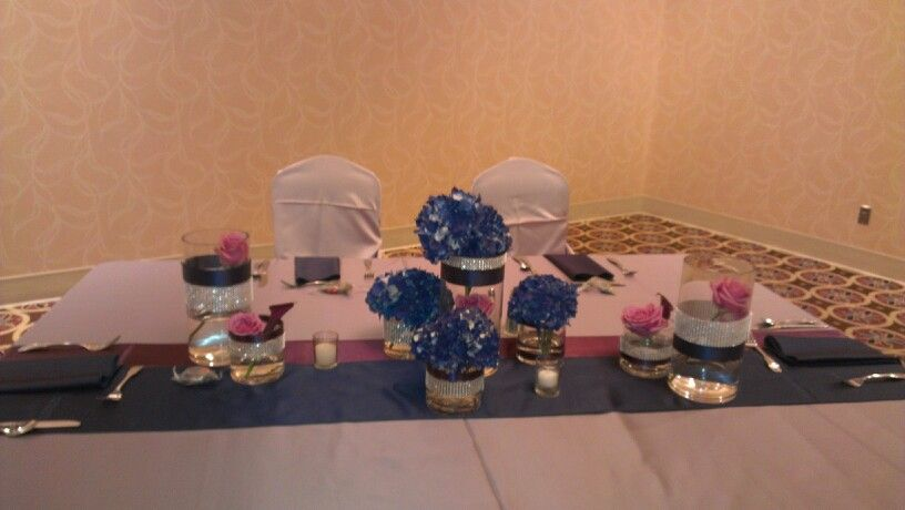 Sweetheart table for the newly weds