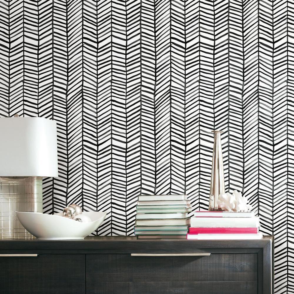 Cat Coquillette Herringbone Peel Stick Wallpaper Peel And Stick Wallpaper Peal And Stick Wallpaper Room Visualizer