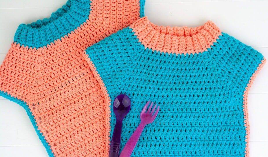 Easy Crochet Baby Bib Pattern - Winding Road Crochet in ...