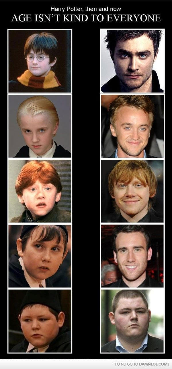 Harry potter then and now - Age isnt kind to everyone ...