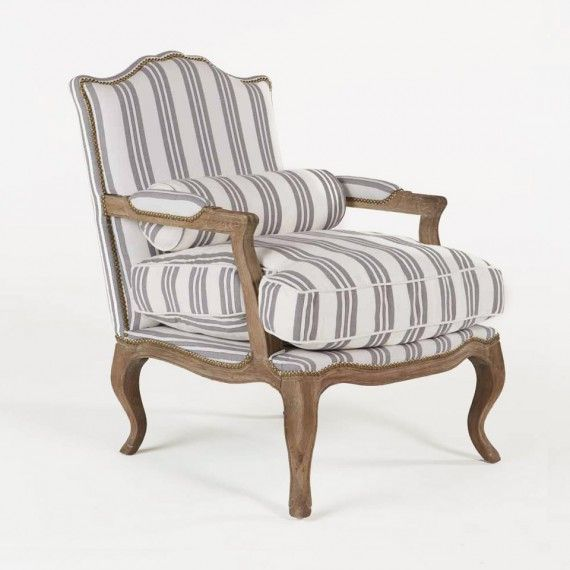 Armchair XIV Grey Stripe   Accent Chairs   Seating   Living   HD Buttercup  Online U2013