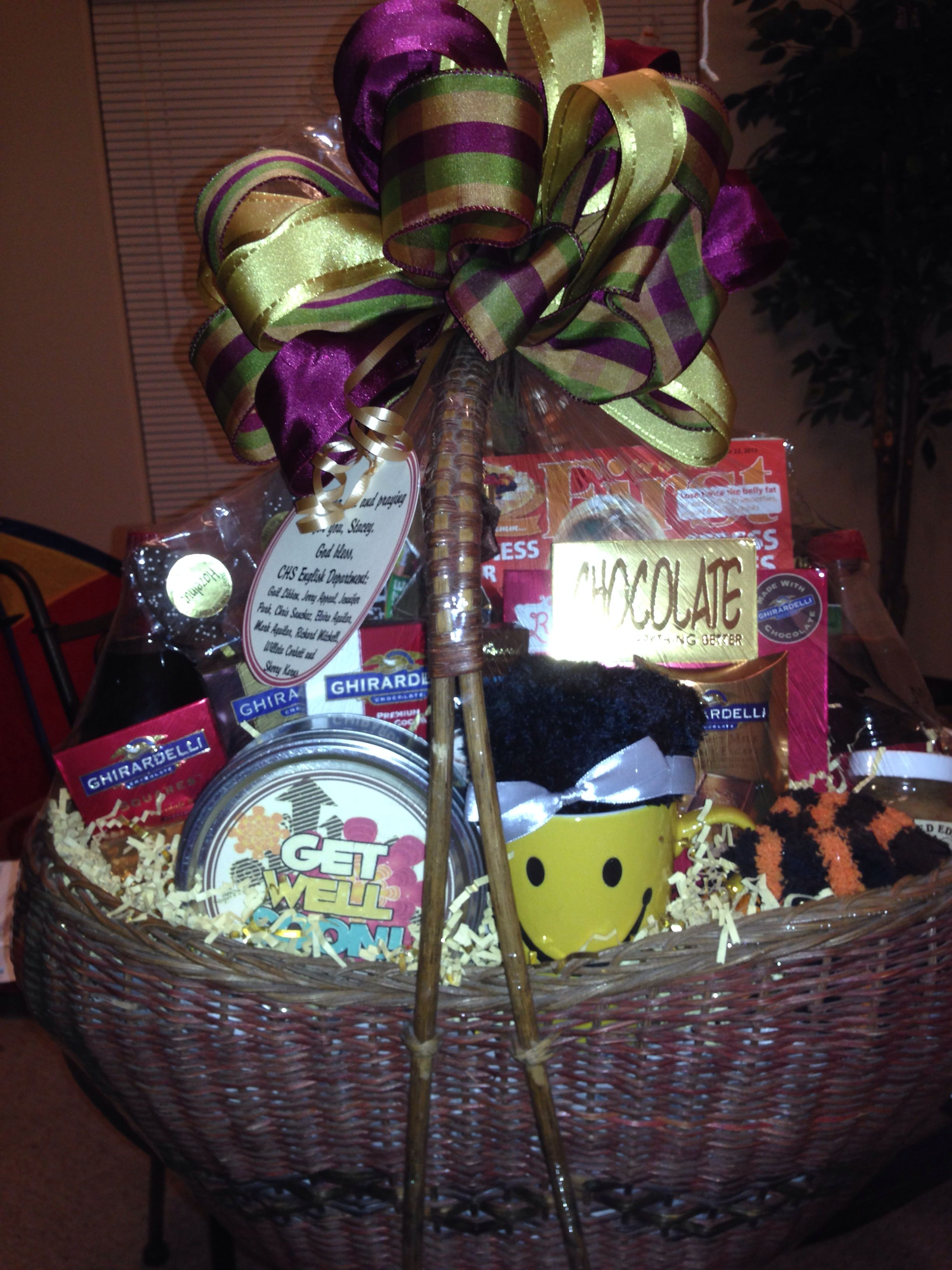 Beautiful gift basket from my friends at work. (With