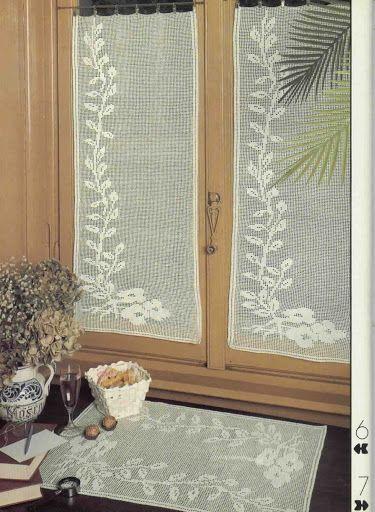 World crochet: Curtain 76