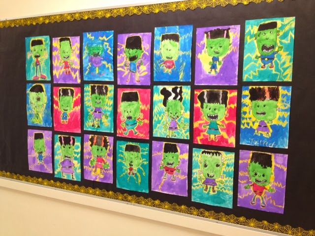 How To Draw Frankenstein Art For Kids Hub Art Lessons