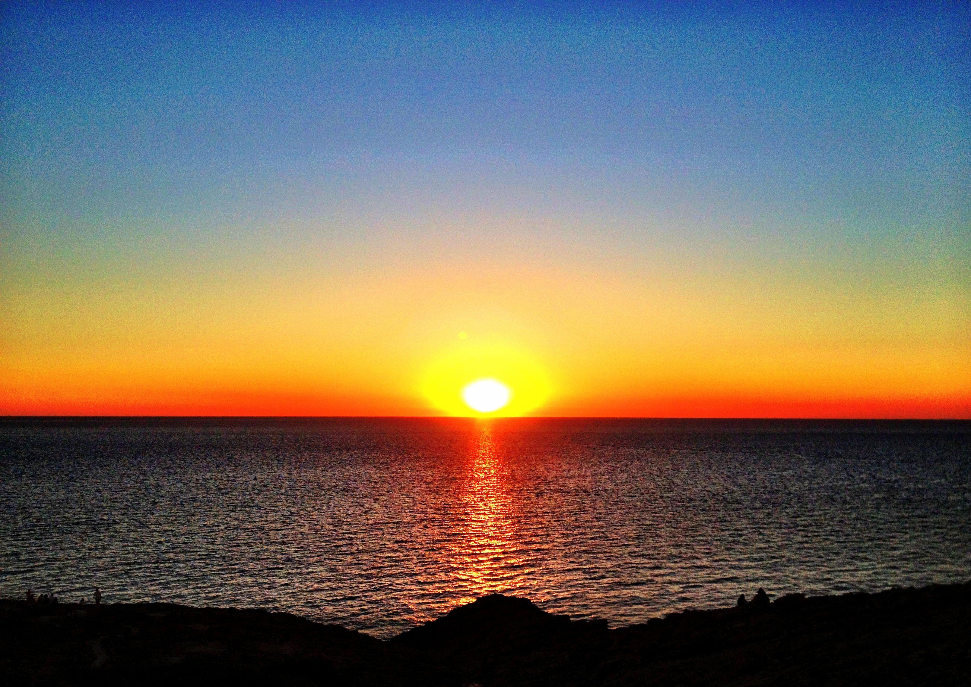 The world's best sunset, at La Torre in San Antonio,