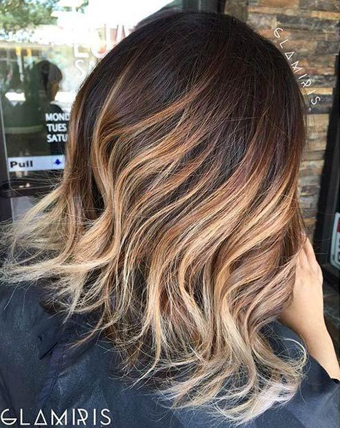 41 hottest balayage hair color ideas for 2016 bobs. Black Bedroom Furniture Sets. Home Design Ideas