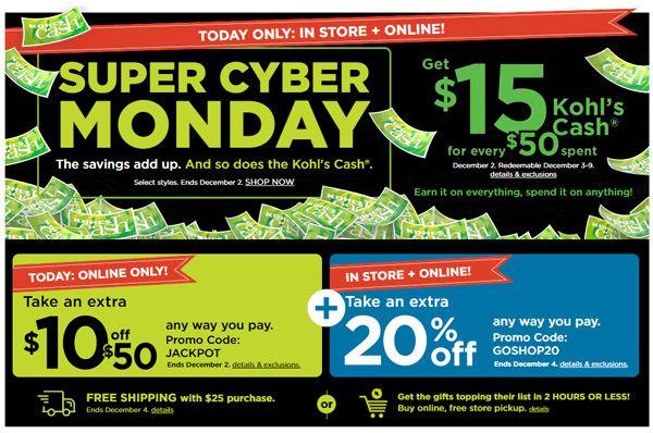►► CYBER MONDAY >>> STACKABLE SAVINGS AT KOHLS! ►► #CyberMonday, #CyberMonday2019, #CyberMondayAmazon, #Deals, #Sale, #Save, #TodayIsCyberMonday ►► Freebie Depot