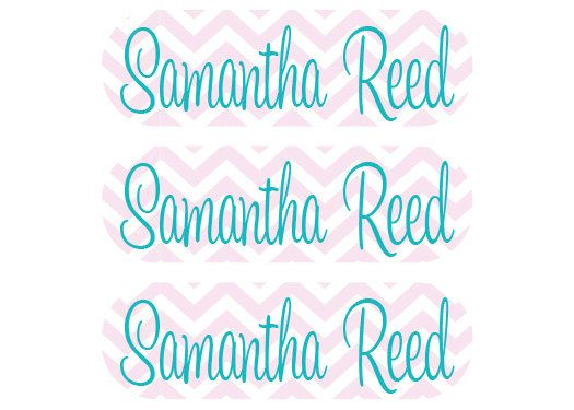 115 Personalized Iron On Clothing Labels - Perfect for School Uniforms, Coats, Gym Clothes, Sports Uniforms - on Etsy, $11.95
