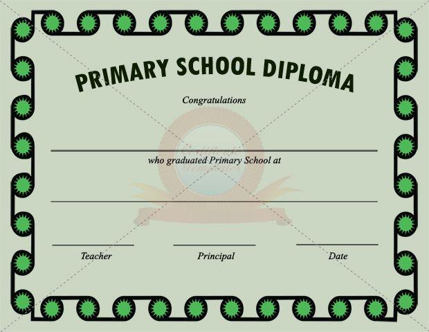 Primary School Certificate Template – School Certificate Templates