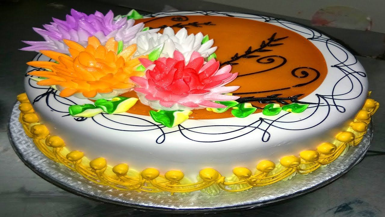 How to make flowers cake with eatable flowers in less than 5 minutes how to make flowers cake with eatable flowers in less than 5 minutes izmirmasajfo