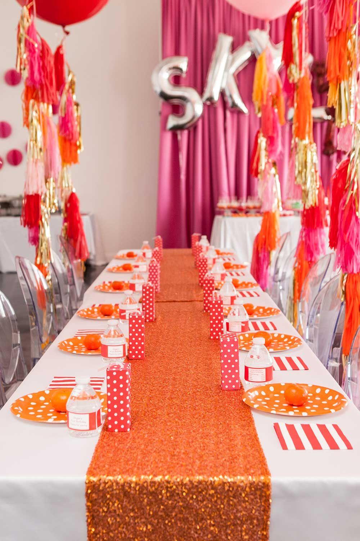 Elmo Themed First Birthday Party in 2020 Orange birthday