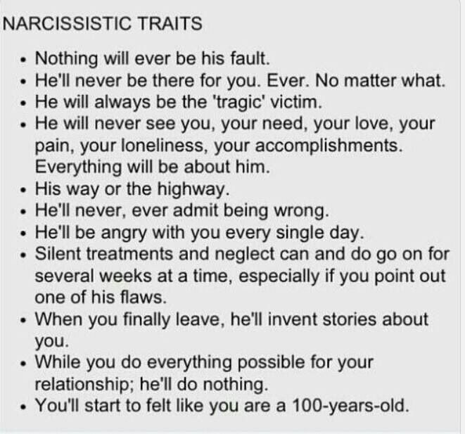 Narcissistic personality disorder female traits