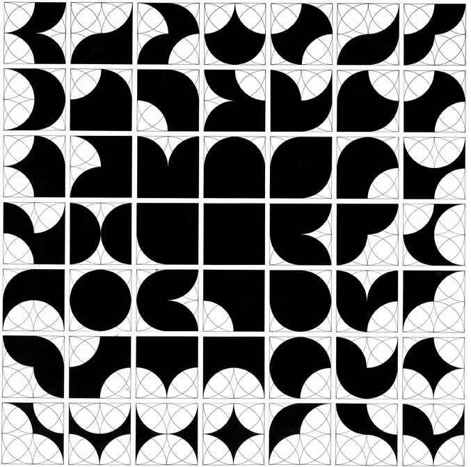 Quadradius Uses A Square Shape And The Quarter Circle Inscribed