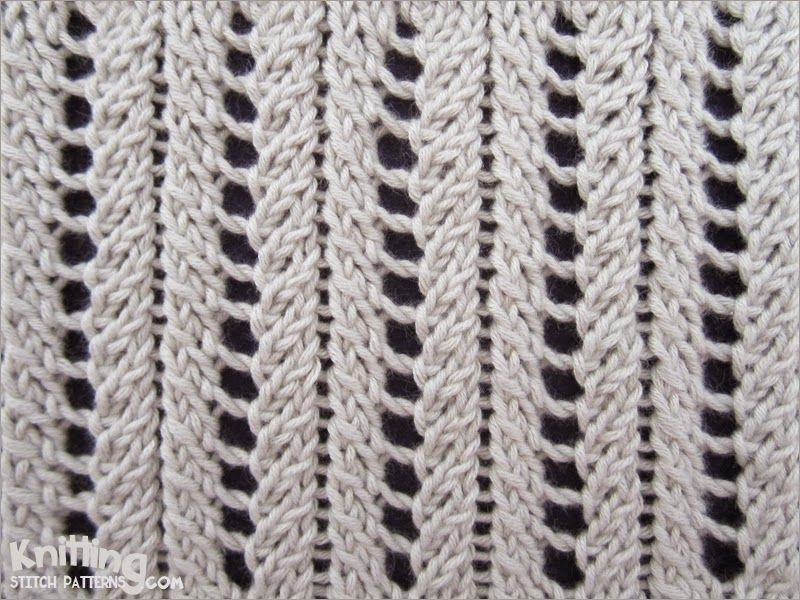 A very simple but elegant lace rib stitch. | Knitting 7 | Pinterest ...
