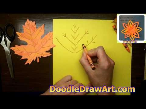 comment dessiner une feuille d 39 rable tutoriel en vid o 07 scrap jardin et nature pinterest. Black Bedroom Furniture Sets. Home Design Ideas