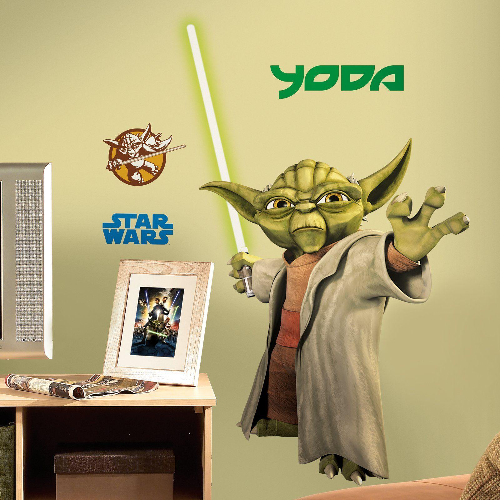 star wars bedroom | Star Wars Yoda Bedroom Wall Decal Party ...