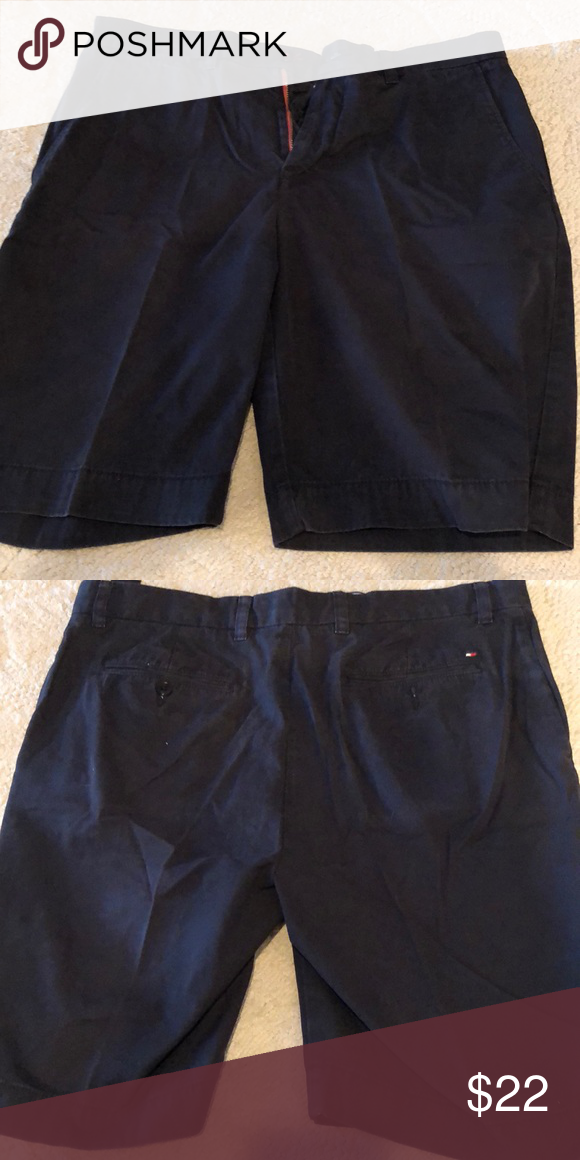 b7b2a1df Size 34 men's Tommy Hilfiger navy blue shorts In good condition. Tommy  Hilfiger Shorts Flat Front