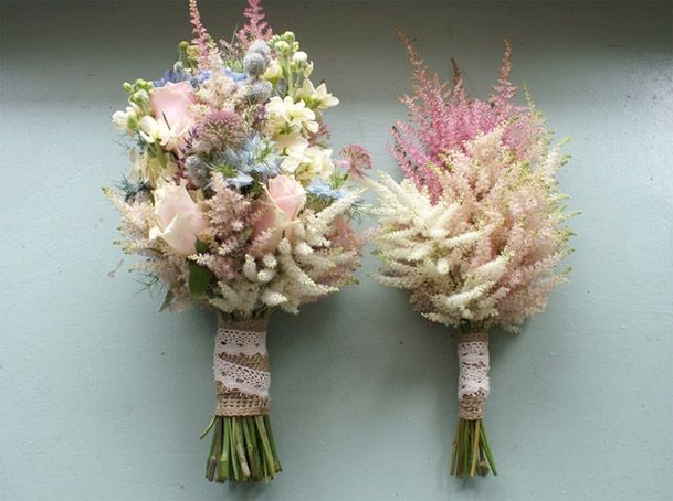 flower i like: astilbe in cream, pink, white nice as a single flower bouquet for bridesmaids? bouquet, centerpiece