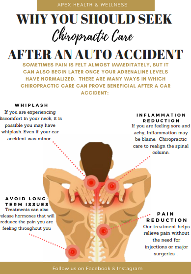 Why You Should Seek Chiropractic Care After An Auto Accident Chiropractic Care Chiropractic Health And Wellness