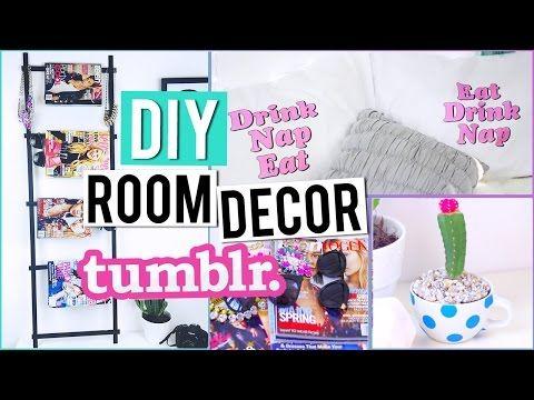 Diy Room Organization Decor Tumblr Inspired Youtube Diy