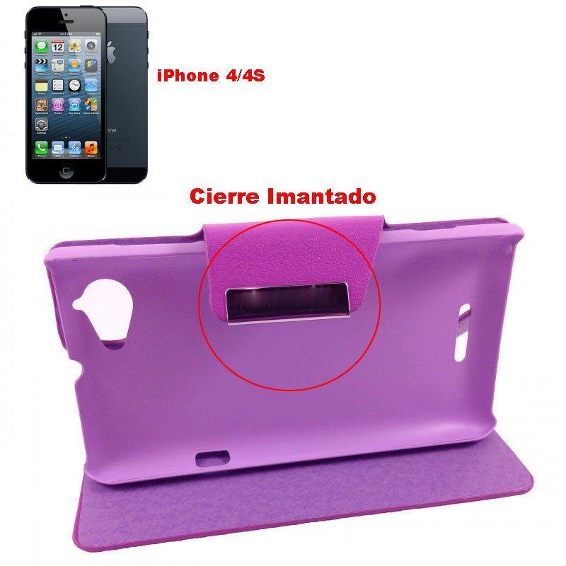 c1c40650a2c FUNDA Telefono Para IPHONE 4 - IPHONE 4S LIBRO Tapa Movil Flip Cover -  https: