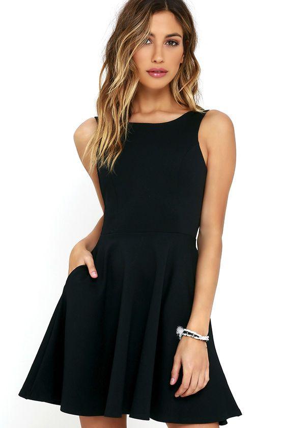 #AdoreWe #lovelulus Lulus Wanderlust Black Skater Dress - AdoreWe.com